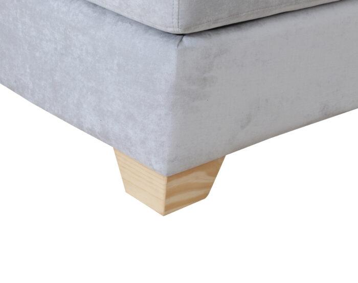 Sofa Cama1p Isabella Gris Claro Pata