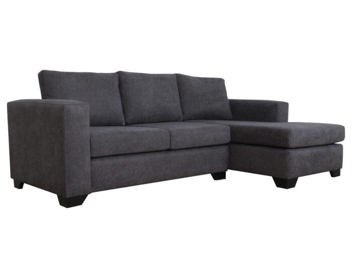 Sofa Seccional Monaco Derecho Mecha Gris Iso