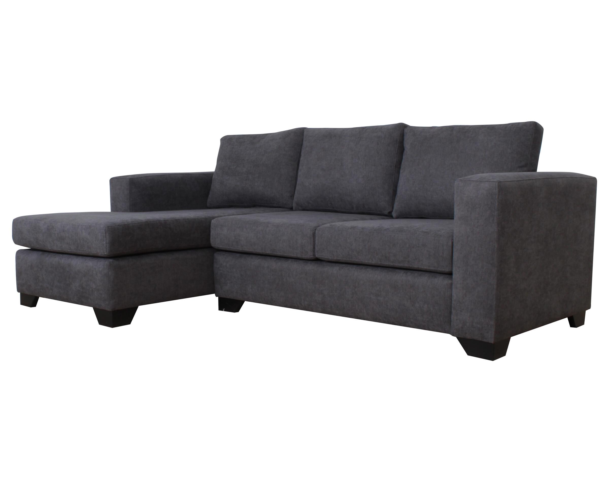 Sofa Seccional Monaco Izquierdo Mecha Gris