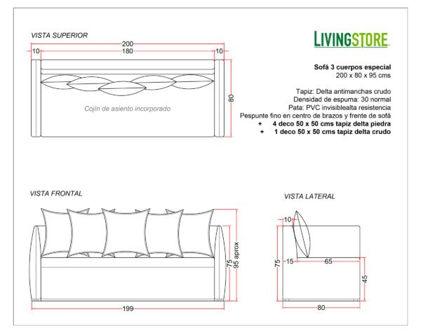 Planimetria Sofa Con Funda