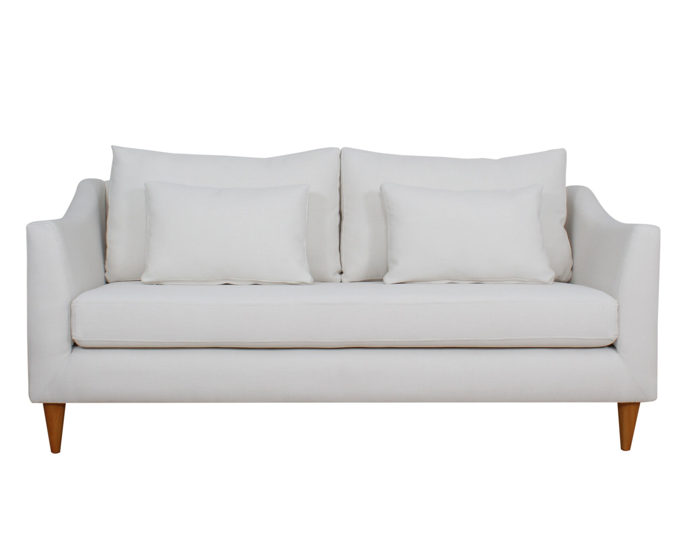 Sofa 2 Cuerpos Brazo Curva