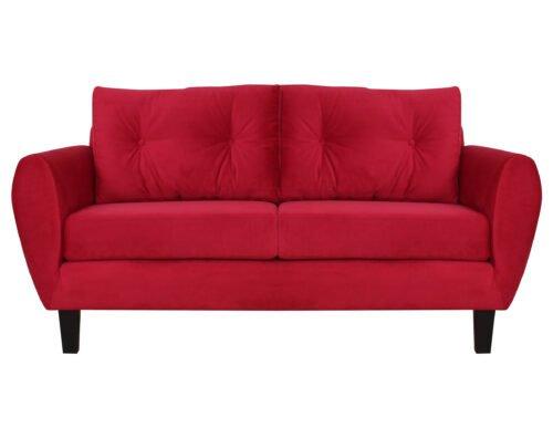 Sofa Amanda Felpa Rojo
