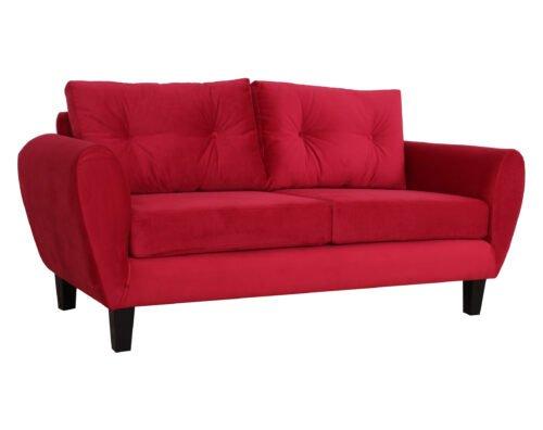 Sofa Amanda Felpa Rojo Iso