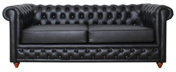 Sofa Chester Cuero Negro11
