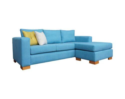 Sofa3c Chaise Intercambiable Calafate Celeste Ls