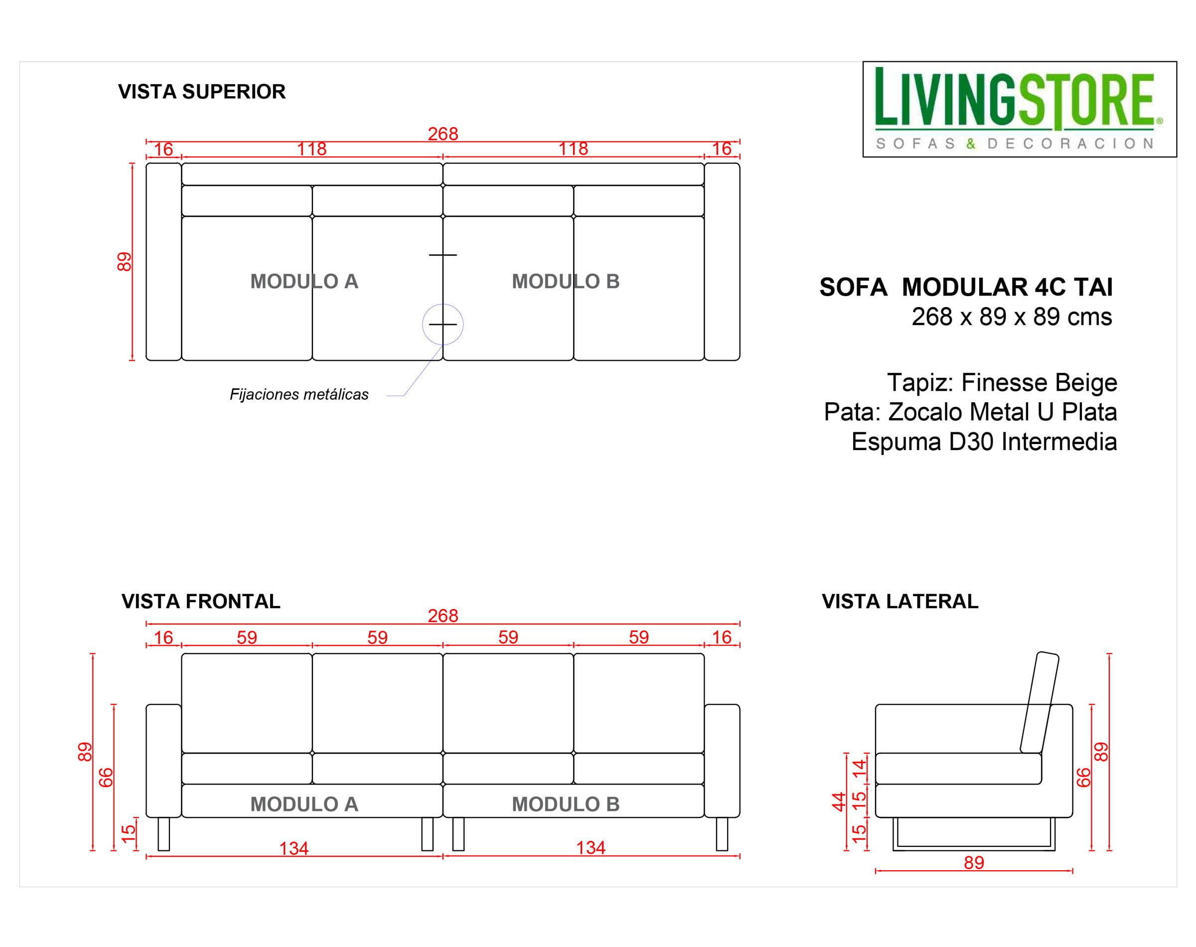 Planimetria Sofa 4c Tai Zocalo