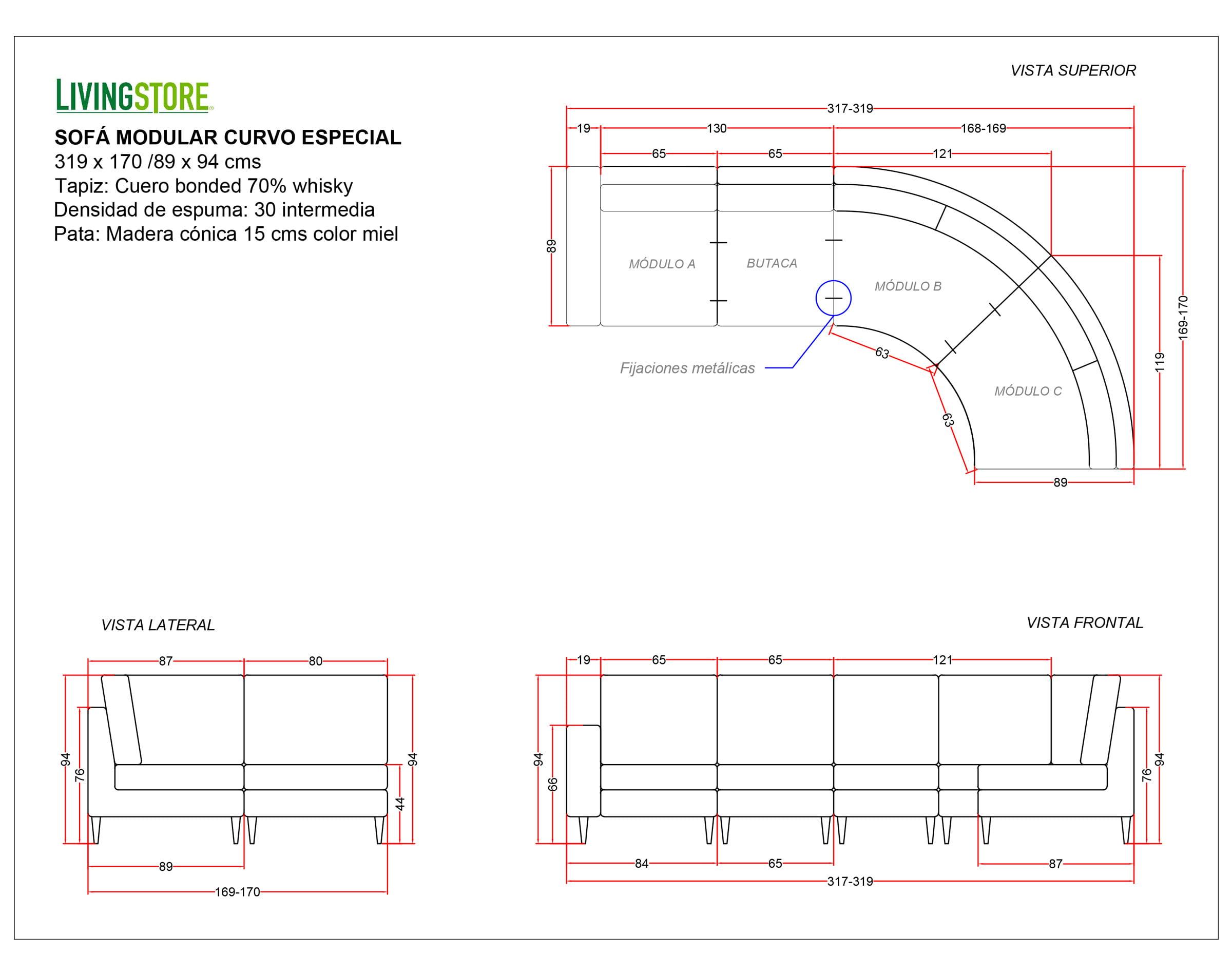 Planimetria Sofa Modular
