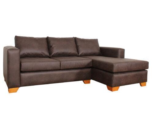 Sofa Seccional Der Cuero Bonded 70 Dk Brown2
