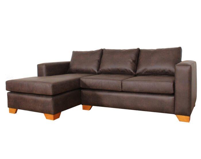 Sofa Seccional Izq Cuero Bonded 70 Dk Brown2