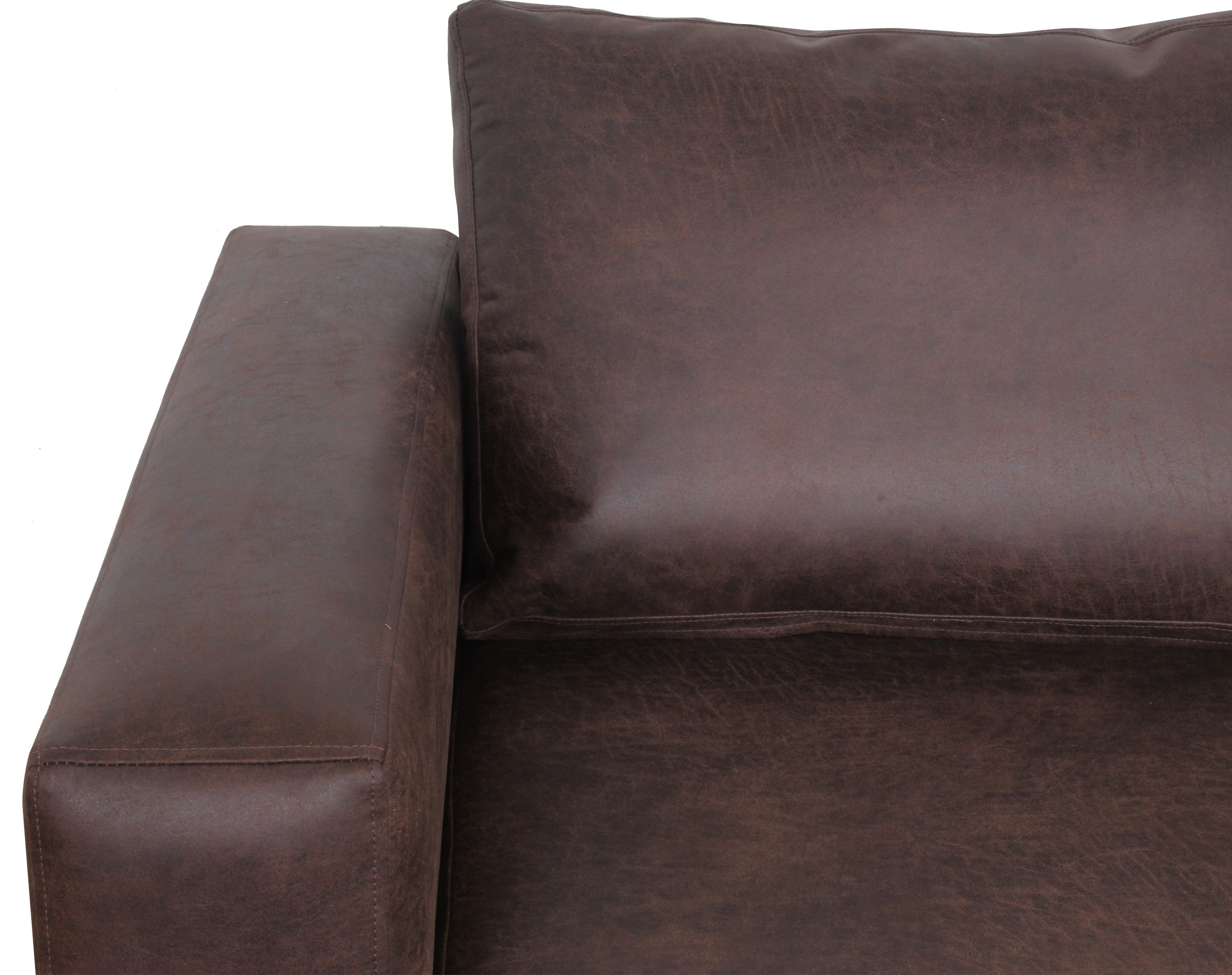 Sofa Seccional Izq Cuero Bonded 70 Dk Brown3