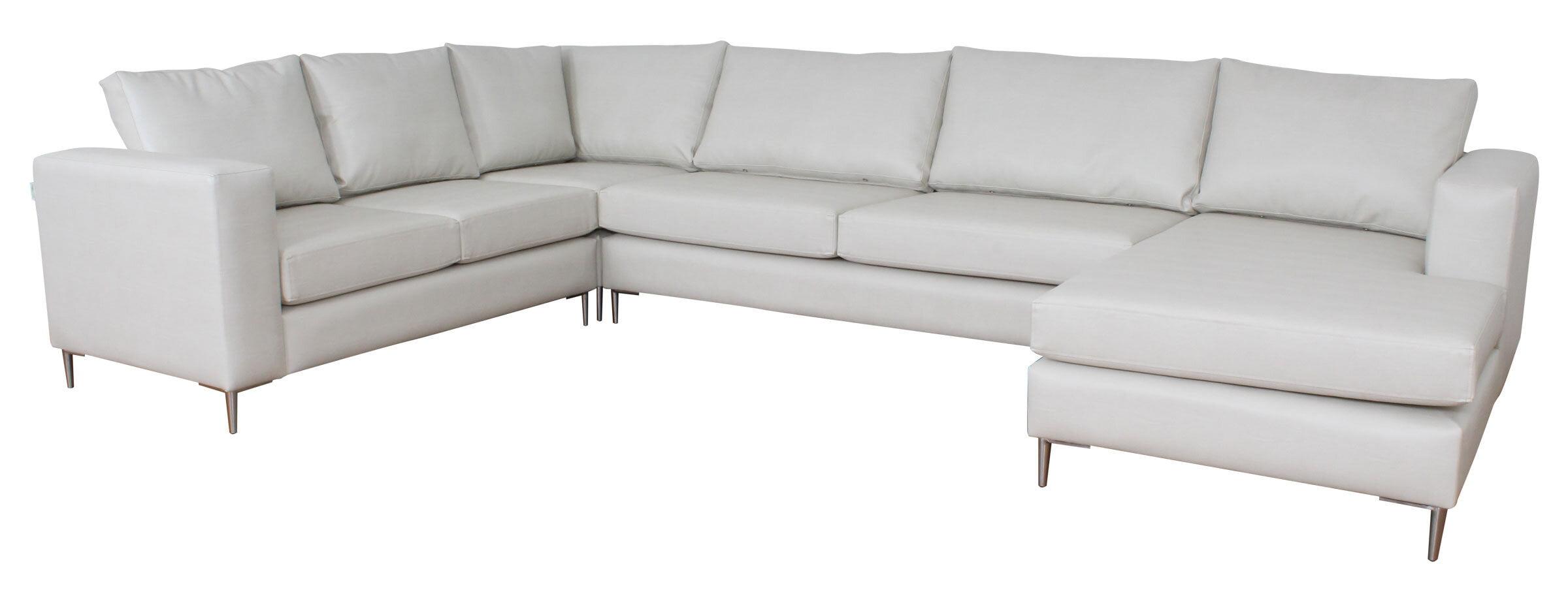 Sofa Modular Chaise Longue Pu Master Best Gelo